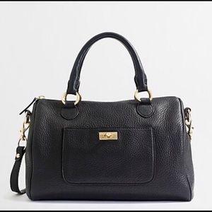 J Crew Pebble leather satchel bag